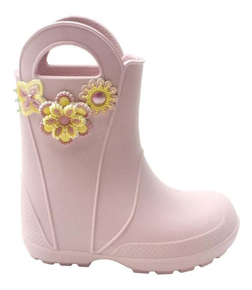 Galocha Plugt Flores Infantil - Rosa