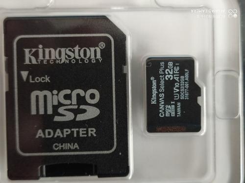 2 Microsd Kinsgton  32gb 100% Original Clase10 100%selladas