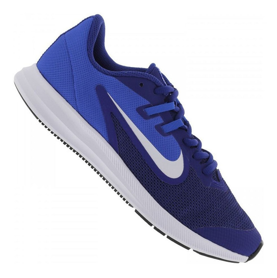 Tenis Infantil Nike Dowshifter 9 Heat Gs Azul- 12x Sem Juros