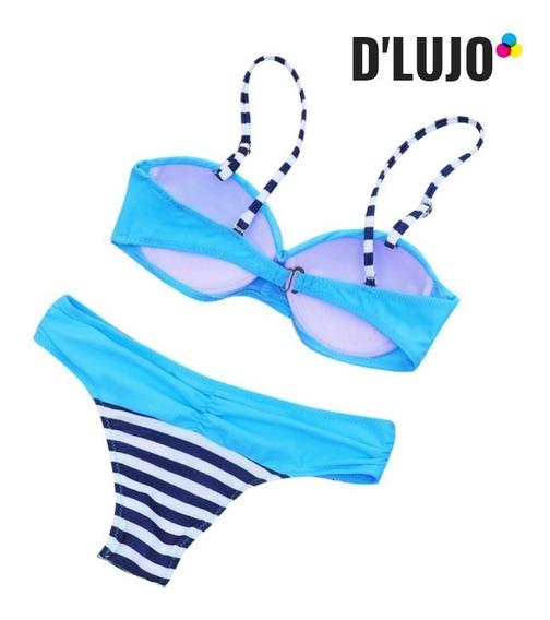 Vestido De Baño Mujer Bikini Traje Brasier En Copa Y Panty !