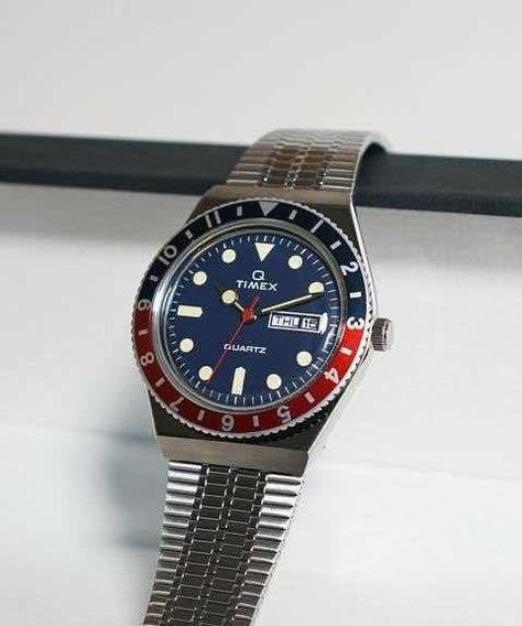 Relógio Timex Q Quartz Relançamento Pepsi 39mm Único Brasil