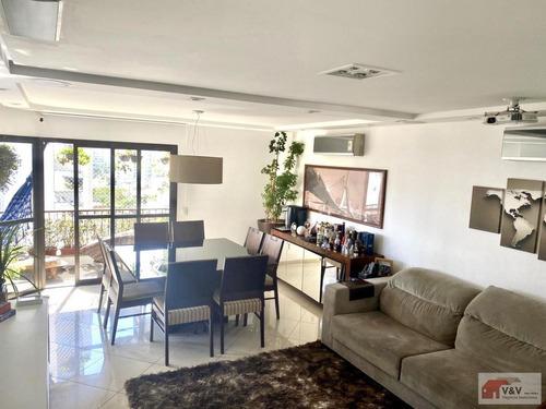 Apartamento Para Venda Em São Paulo, Brooklin, 3 Dormitórios, 1 Suíte, 4 Banheiros, 2 Vagas - Brklm1109_2-1156330
