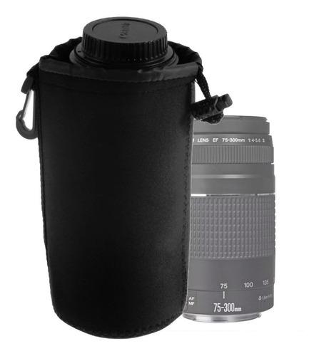 Estuche Neoprene Protector Lente Canon Nikon Tamaño Xl