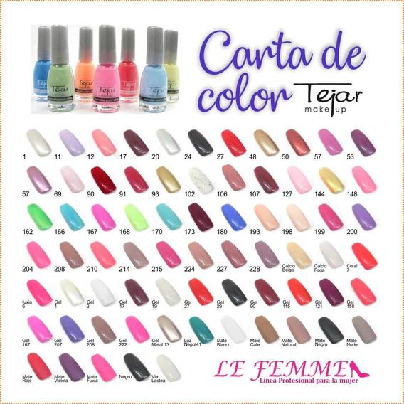 36 Esmalte De Uñas Tejar Variedad De Colores Lefemme