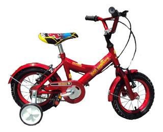 Bicicleta Rodado 12 Varón Rueda Con Rayos Cuadro Oversize