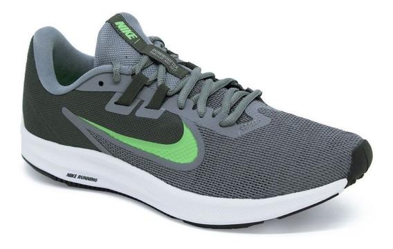 Tênis Nike Aq7481 Downshifter 9 Cinza/verde