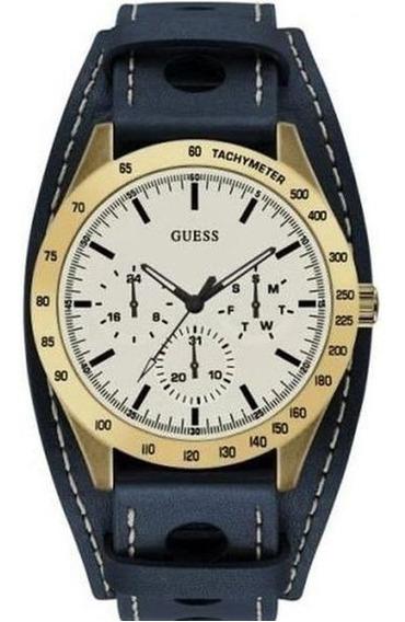 Relógio Guess W1100g2 Azul Calendário