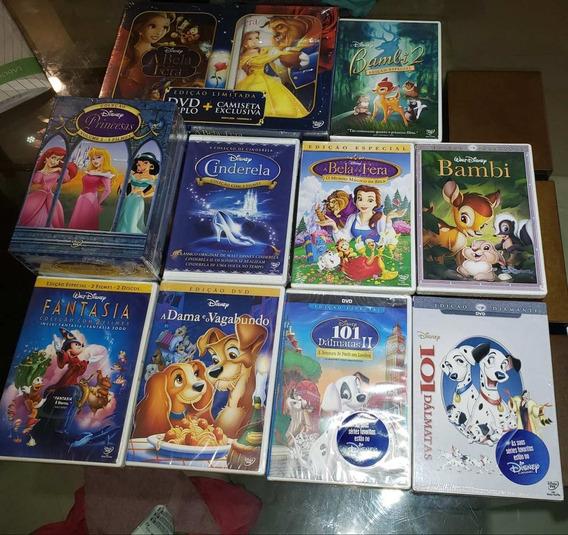 Dvd Coleção 17 Filmes Disney Original Lacrado Princesas Pets