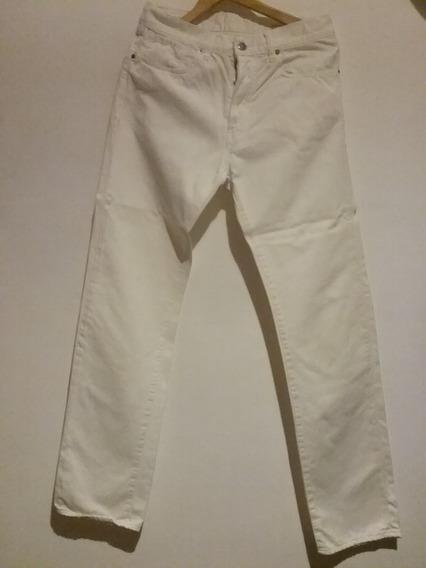 Pantalón De Jeans Blanco Bensimon Talle 32