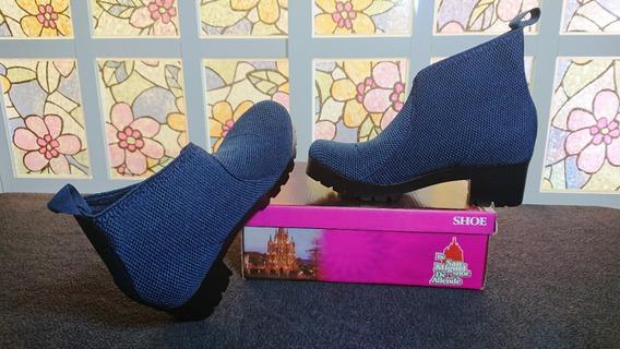 Zapatos Botin Princess Azul Para Dama/meses Sin Intereses