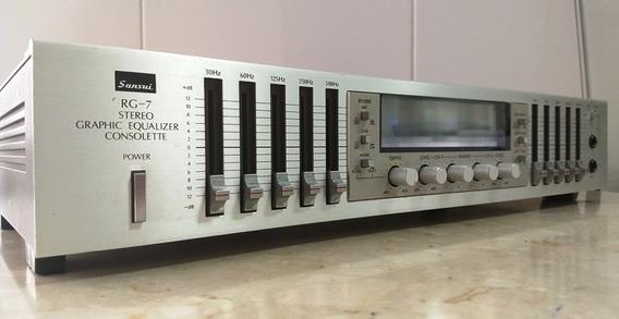 Equalizador Sansui Rg-7, 10 Bandas, Excelente Conservação