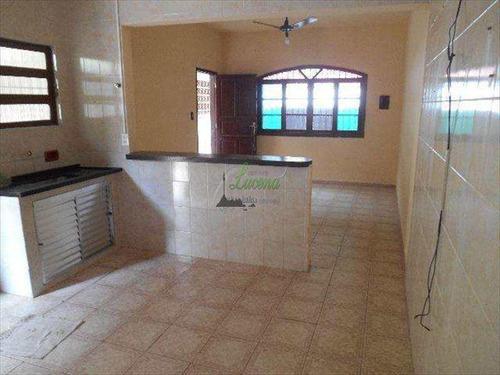 Casa Térrea 2 Dormitórios Na Vila Mirirm Em Praia Grande Com Garagem Para Dois Veículos - V5807