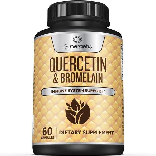 Sunergetic Quercetin & Bromelain Suplemento Sist Inmunitario