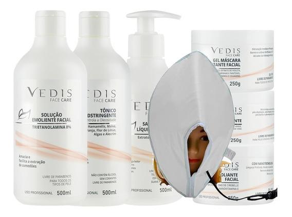 Limpeza De Pele Kit Profissional Completo 7 Itens - Vedis