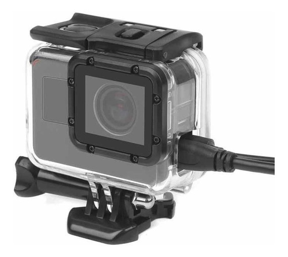 Caixa Skeleton Furo Lateral Gopro Hero 5 6 7 Black