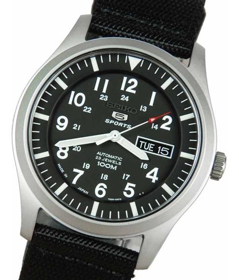 Reloj De Piloto Seiko 5 Sports Automatico Snzg15k1