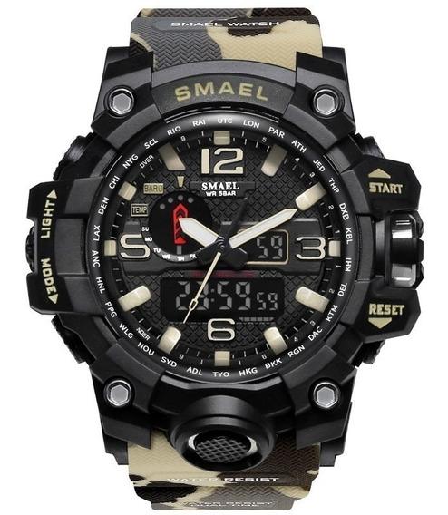 Relógio Masculino Esportivo Militar Shock Camuflado Novo