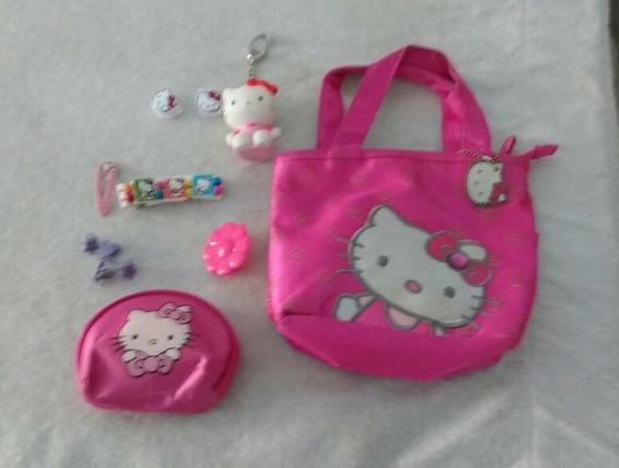 Cartera De Hello Kitty Con Accesorios