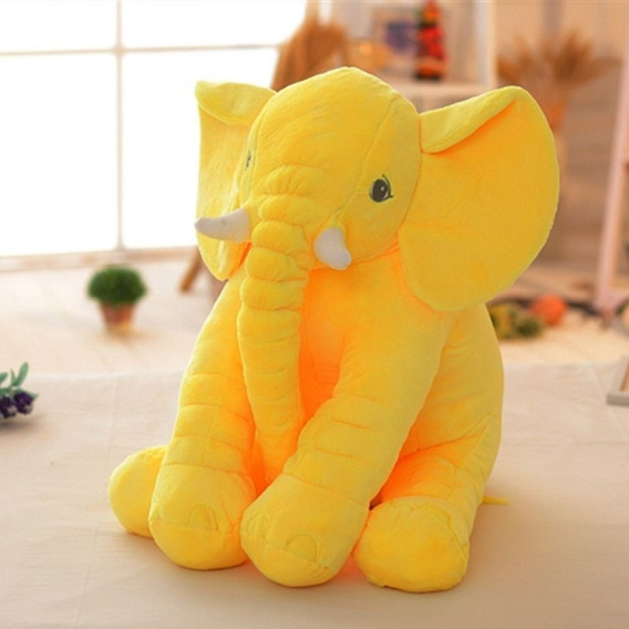 Elefante Pelúcia Para Bebê Azul