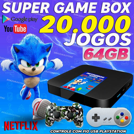 Retro Box-video Gam 20.000com 2 Controles 64gb(1snes,1play3)