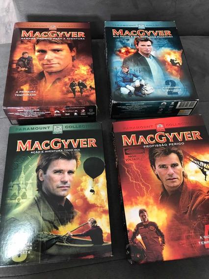 Box Dvd Macgyver 1 2 3 4 Temporadas Original