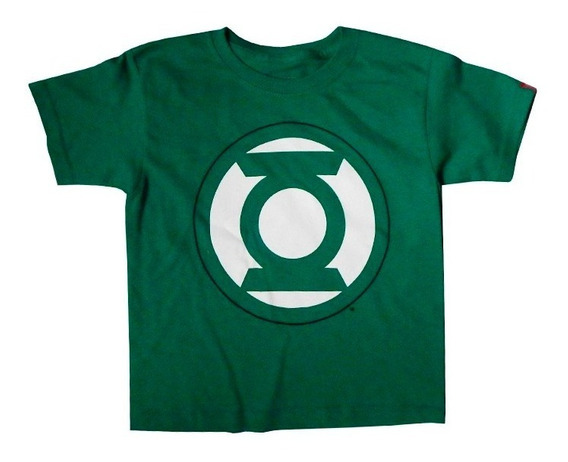 Linterna Verde Playera Para Niño Logo Original Official