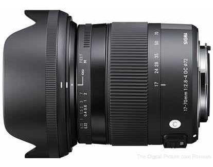 Lente Sigma 17-70 2.8 Canon