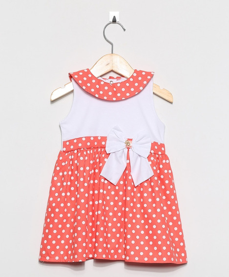 Vestido Infantil Pingo Doce Poá