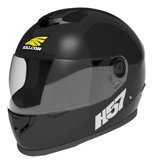 Casco Moto Halcon H57 Integral Negro Tienda Oficial