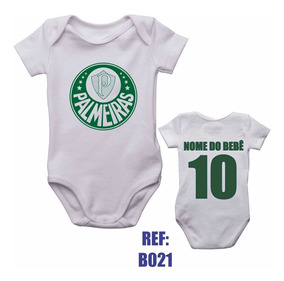 Body Infantil Palmeiras Bebê Futebol Personalizado Com Nome