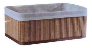 Cesto Organizador De Ropa Bambu 25x35x14 Cm