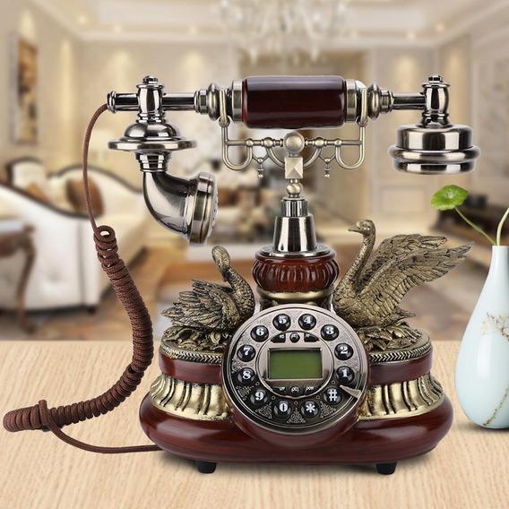 Vendimia Retro Teléfono Rotary Marcar Antiguo Teléfono Fijo