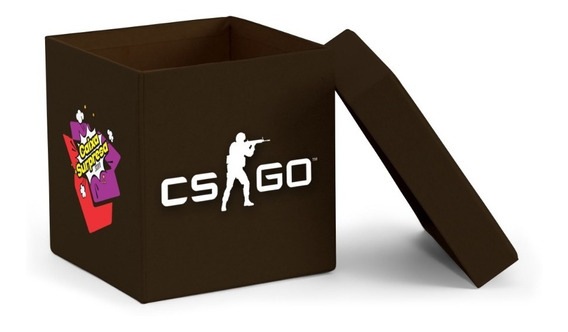 Caixa Surpresa Counter-strike Csgo 5 Itens Mdf Black Edition