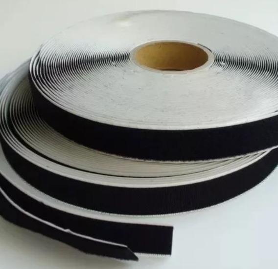 Velcro Com Auto Adesivo Nos 2 Lados Rolo 25m X 16mm