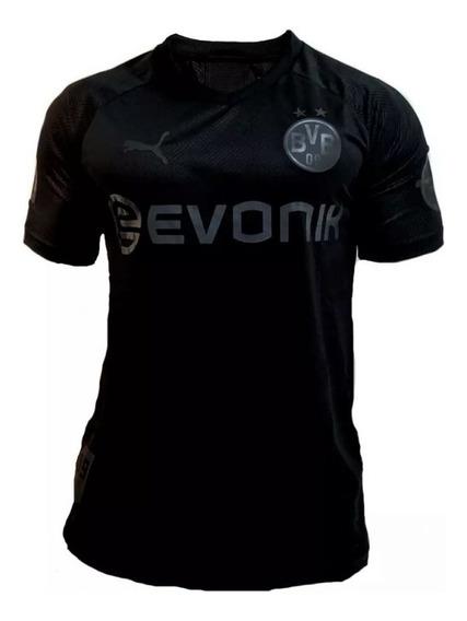 Camisa Borussia Dortmund 110 Anos Preta 2020 Original Env24h