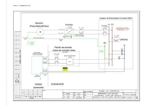 Imagem 1 de 1 de Projeto E Homologação De Sistema Solar Fotovoltaico
