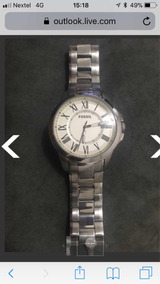 Relógio Fóssil Fs-4734 Metal Novo Nunca Usado Original