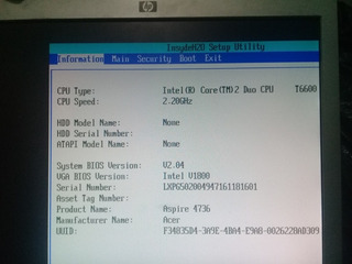 Laptop Acer Aspire Para Refacciones Tarjeta Madre Funcionaok