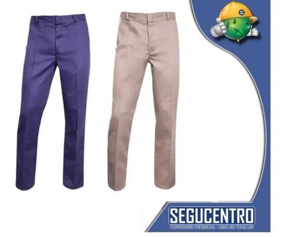 Pantalon De Trabajo Tipo Ombu Azulino O Beige Centro