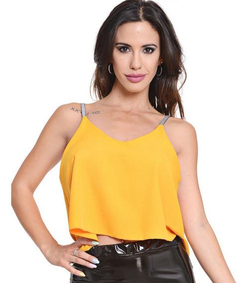 Remera Blusa Con Bretel Lurex Mujer 7 Colores Aur21