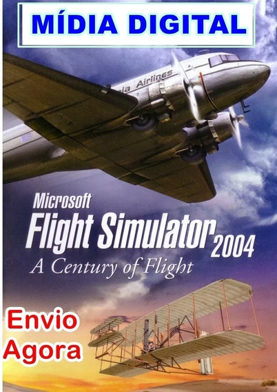 Fs2004 Flight Simulator 2004 + Cenários Aeronaves Envio Já