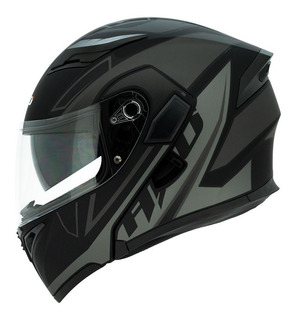 Casco Abatible Hro 3400 Dv Primitive Gris Brillante