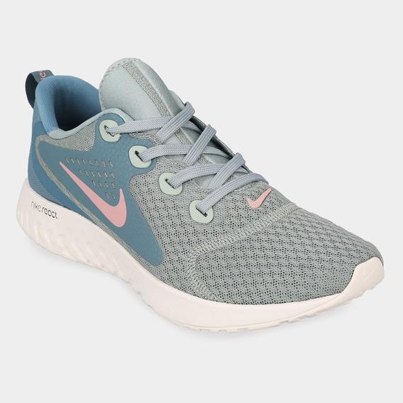 Zapatillas Nike Rebel React - Turquesa Y Rosa - Running