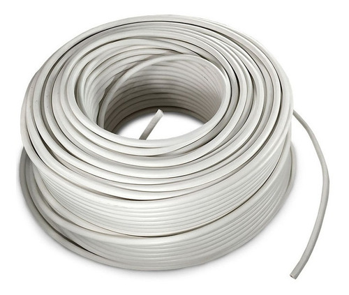 Imagen 1 de 1 de Cable Eléctrico Cca Calibre 8 Alucobre 100m Unipolar Blanco