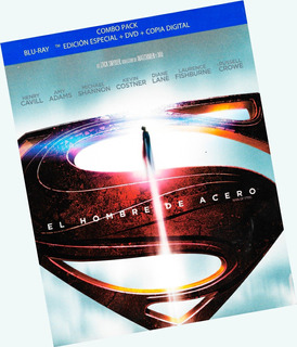 El Hombre De Acero / Man Of Steel Blu-ray + Dvd Ed 3 Discos