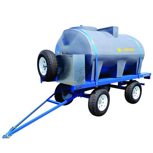 Acoplado Cisterna Tanque Plástico 4400l Con Rala Para Agua