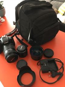 Câmera Canon T3i + Lente 18-135mm + Lente 50mm