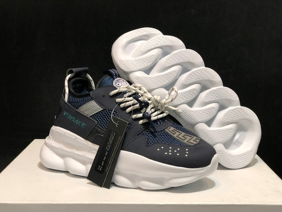 Tênis Versace Chain Reaction Blue