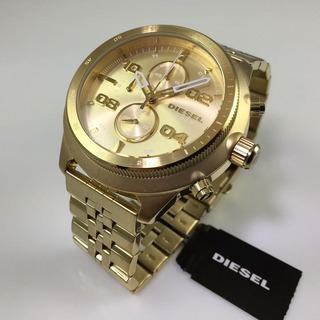 Reloj Dorado Diesel Padlock Dz4441 Hombre
