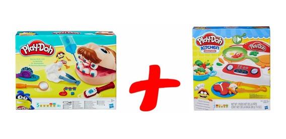 Massinha De Modelar Play Doh Fogãozinho + Dentista Hasbro